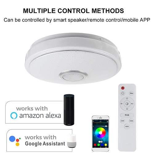 200W WiFi Modern RGB LED Ceiling Light Home Lighting APP bluetooth Music Light Bedroom Lamp Smart Ceiling Lamp Remote Control