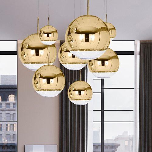 Modern Nordic Suspension Pendant Lamps Home Decor Glass Ball E27 Interior Hanging Lights Dining Living Room Kitchen Lightings