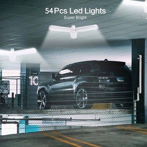 LED Garage Lights Super Bright 40W Daylight Light Bulbs 4000LM 3-Leaf Deformable Garage Ceiling LED Shop Lights Industrial Light