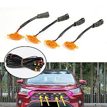 2020 New For Car 4pcs Front Grille LED Light Raptor Style Grill Lamp For Toyota RAV4 2019-2021 Car Accessories