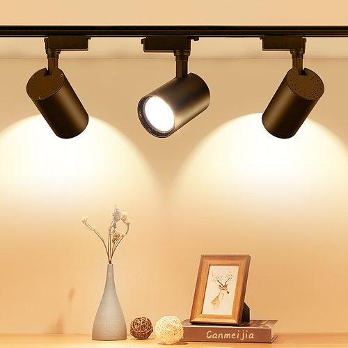 Whole Set Led Track Lights 12/20/30/40W 220V COB Track Lamp Rail Spotlights Lighting Fixture Led Spots Lights for Home Store