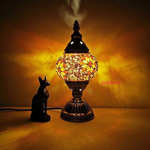 Turkish mosaic table Lamp vintage art deco Handcrafted lamparas de mesa mosaic Glass romantic bed light lamparas con mosaicos