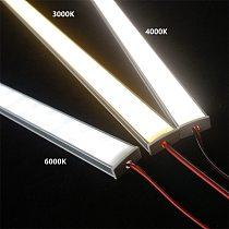 12VDC 50cm 20inch LED cabinet bar light,2835 60 120/240 led per meter flat U profile led hard strip,2W/6W/9W diode invisible