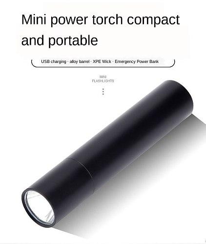 USB Mini Rechargeable Led Flashlight Charging Super Bright Pocket Flashlight LED Multi Function Zoom Student Home Strong Light