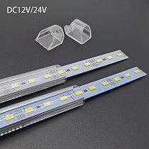 5pcs*50cm Factory Wholesale DC 12V 24v SMD 5730 5630 LED Hard Rigid Strip Bar Light Aluminium shell +pc cover LED Bar Light 5730