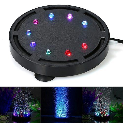 Waterproof Aquarium Lighting Submersible Led Bubble Air Light Colorful Aquarium Decoration Fish Tank Bubbler Lamp EU Plug