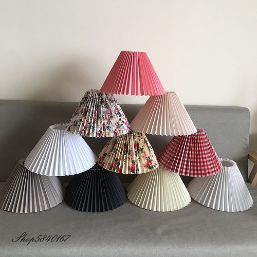 New Pleats Lampshade for Table Lamp Standing Lamps Japanese Style Pleated Lampshade Creative Desk Lamp Shade Bedroom Lamps E27