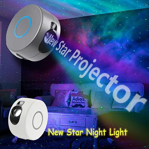Starry Star Sky Laser Projector Colorful Night Light LED Light Galaxy Projection Lamp For Home Children Night Light Christmas