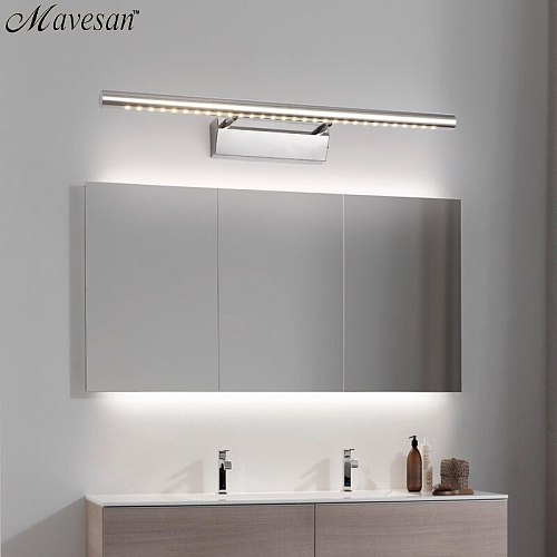 Hot Selling LED Wall light Bathroom Mirror warm white /white washroon wall Lamp fixtures Aluminum boby & Stainless Steel