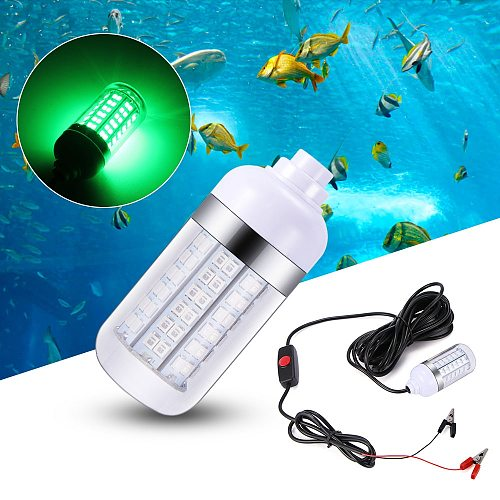 12V LED Fishing Light 108pcs 2835 Waterproof Ip68 Lures Fish Finder Lamp Attracts Prawns Squid Krill 4 Colors Underwater light