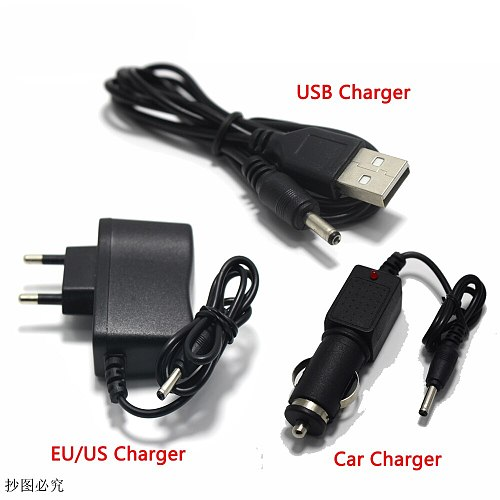US Plug AC Power Charger Battery Flashlight Supply Converters Wire Chargers for 18650 battery or headlamps USB Charger Car Charg