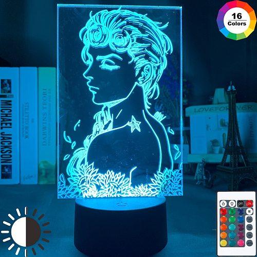 Anime JoJo's Bizarre Adventure Art Gadget Led Night Light Touch Sensor Colorful Nightlight for Home Decor Jojo Figure 3d Lamp