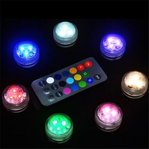 IP68 Waterproof RGB Submersible Light Battery Operated LED Underwater Light Vase Bowl Outdoor Garden Party Decoration Night Lamp
