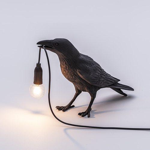 Bird Table Lamp Italian Seletti light Bird Led Desk lamp Lucky bird Living Room Bedroom Bedside Raven lamp Home Decor Fixtures