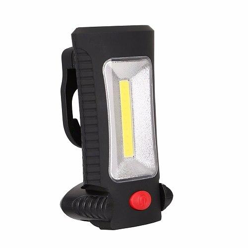 Sanyi 2-Modes COB LED Magnetic Working Folding Hook Hanging Lamp Torch Linternas Lanterna Flashlight Handy Lighting Use 3x AAA
