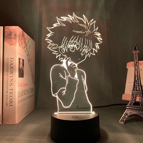 Hunter X Hunter 3D Night Light Desk Table Decor USB 16 Color Night Lamp Remote anime led light Manga Gift For Kids Child