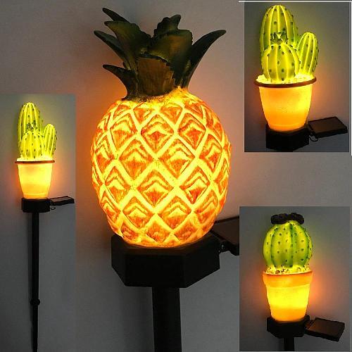 Solar LED Lawn Lamp Cactus Shape Spike Light for Outdoor Garden Yard Ground Lamp LED Solar Energy Lamp Courtyard Lighting