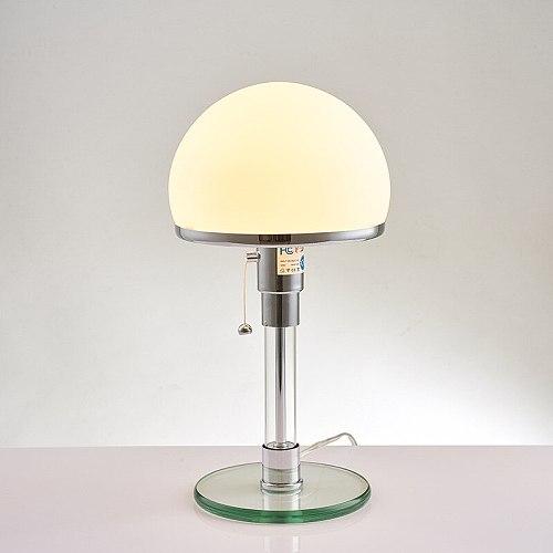 Desk Lamp Danish Designer Bauhaus Lamp Nordic Bedroom Bedside Simple Glass Lamps Led Table Lamp for Living Room Bedroom