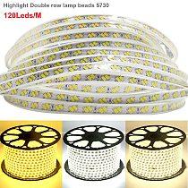 120LED/M LED Strip lights 5730 Flexible LED Light 220V Double row wick LED Rope Lights light bar Home decor