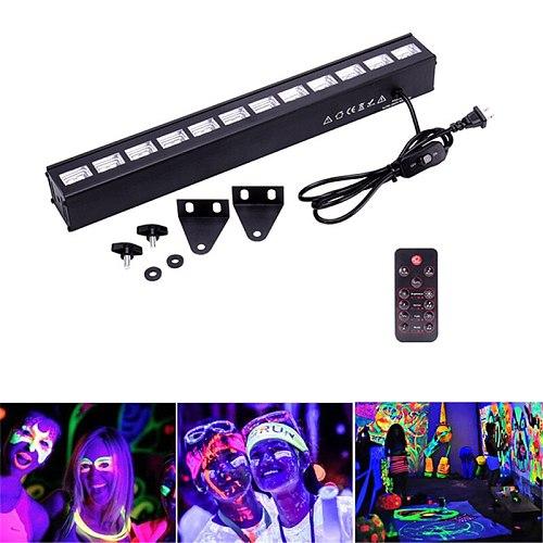 UV Stage Light Purple Lighting Effect Night Light 36W 54W 72WW Wall UV Lamp For DJ Disco KTV Bar Christmas Party Indoor Lighting