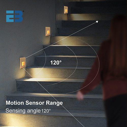 Recessed Wall Lamp Led Stair Light Motion Sensor Footlight Step Lamp AC85-265V Corridor Lighting Sconce Indoor Wall Light