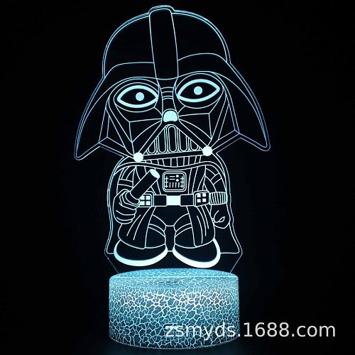 Disney Star Wars Baby Yoda 3D Night Light Creative Christmas Gift Visual Stereo Light LED Table Lamp USB Powered Birthday Gift