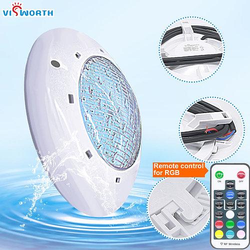 24W 36W UnderWater Light AC/DC 12V RGB+Remote Controller Outdoor Lighting IP68 Waterproof Swimming Pool Light Par56 Led Pond