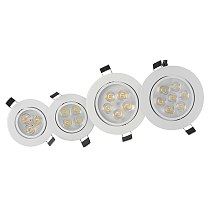 Dimmable Downlight light 9W 12W 15W 21W  220V 110V Recessed Led ceiling lamp Warm / White/Cold White Round Led Spot Light