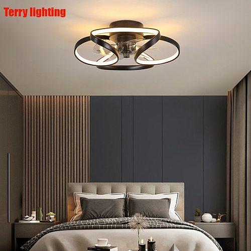 Nordic bedroom decorative LED lights, room ceiling fan lights, remote control lights, dining room ceiling fan lights