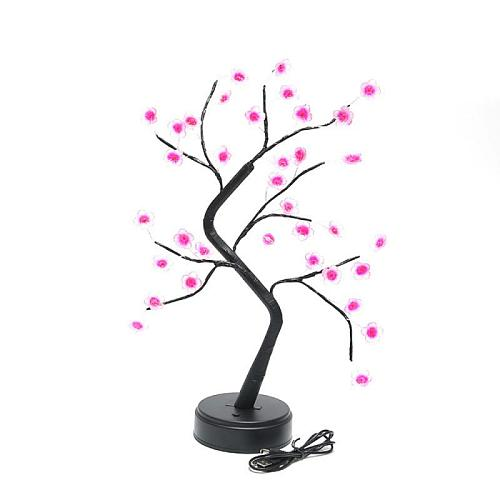 Cherry Blossom Tree Lamp LED Warm Light Decoration Girl Heart Table Lamp Battery USB Home Festival Party Wedding Christmas Lamp