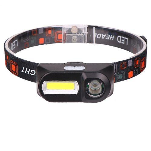 1804 Sensor XP-G Q5 Headlamp Camping Head Light Lamp by 1* 18650 Rechargeable Battery LED COB Bulbs Litwod Lithium Ion 10w