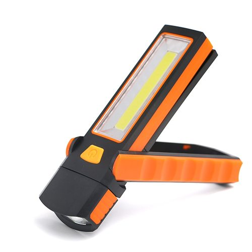 Sanyi COB LED Work Light Inspection Lamp Flashlight Torch Magnetic Hook Hand Tool Garage Outdoors Camping Sport Lamp AAA
