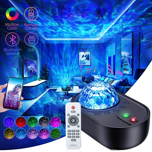 Star Projector Galaxy Night Light Romantic Projection with Remote Control Bluetooth Speaker and White Noises for Kind Bedroom