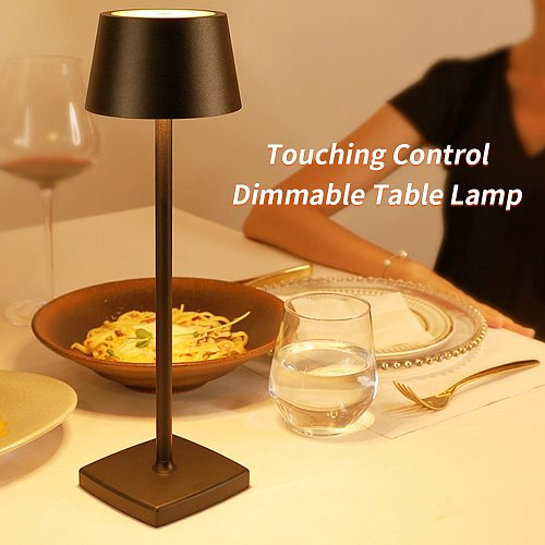 USB Rechargeable LEDs Desk Lamp Touching Control Dimmable Table Lamp Portable Reading Study Light for Kids Bedside