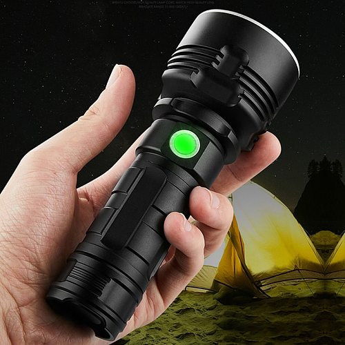 Z35 Super Powerful LED Flashlight L2 XHP70 Tactical Torch USB Rechargeable Linterna Waterproof Lamp Ultra Bright Lantern Camping
