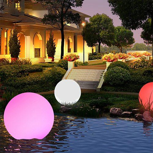 16 Color RGB Floating Pool Lights Changing  LED Ball Lights IP67 Waterproof 20cm 15cm 12cm 8cm Hot Tub Night Lights Pool Toys
