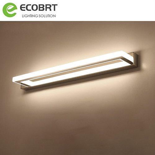 ECOBRT Modern LED Bathroom Mirror Light 9W 42CM Stainless steel Vanity Lights Acrylic Wall Sconces Lamp 85-240VAC