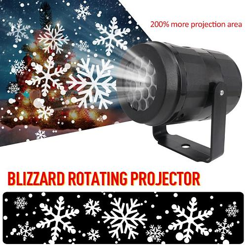 New Year Party LED Snowflake Projector Lights Christmas Light  Moving Laser Projection Light Outdoor Waterproof Blizzard Light