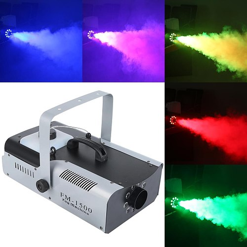 2X 1500 Watt Smoke Fog Machine 9 LED Lights Remote Control DJ Party Stage Fogger