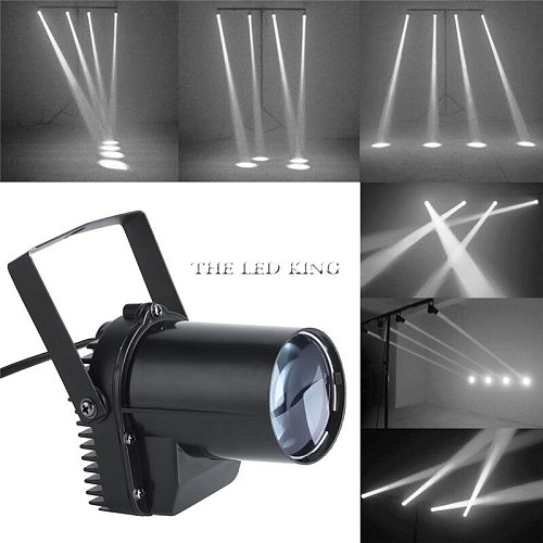 Stage Light 12W RGBW Disco Beam Led Pinspot Light For DJ Party KTV Mirror Ball Pin Spot Lights Spotlights