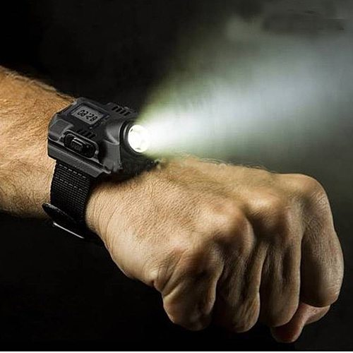 Flashlight Tactical Watches With High Power Rechargeable LED Flashlight Tactical lantern Wrist Watch Flashlight Torch LED