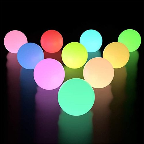 2pcs 1pc RGB Floating Pool Light 3inch 7.8cm RGB Color-changing LED Pool Ball Lights IP67 Bath toy for Outdoor Garden Swimming