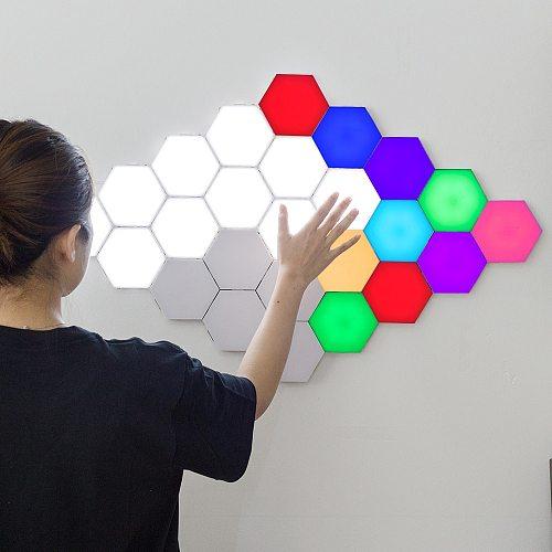 Modern LED Night Lamp for Home Quantum Lamp Modular Sensitive Touch Light Helios Lighting Bedroom Deco Lamps LED Magnetic Lights