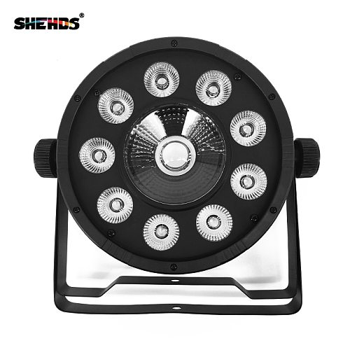 Fast Shipping LED Flat Par 9x10W+30W RGB  Lighting For DMX512 Stage Effect Professional DJ Equipment And Party Dance Floor Disco