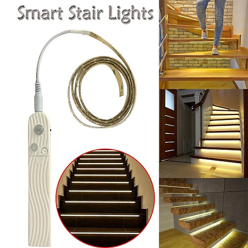 Smart Stair Light wall+lamps Night Induction Stair Light wall lamp luminaria light modern wandlamp Turn On When You Walk On Them