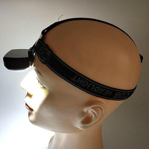 Headlamp Headlight Head Flashlight Torch Lamp Outdoor Lighting 3 Modes Led Litwod Cob Lithium Ion Camping ,Walking
