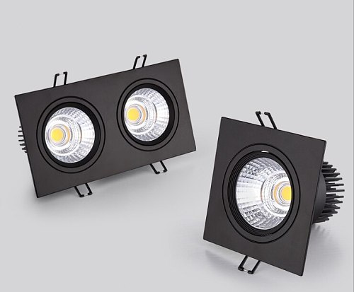 Led Spotlight Ceiling Lamp Recessed LED COB Downlight Dimmable 220V 110V Warm / Pure/Cold White Round Led Spot Light