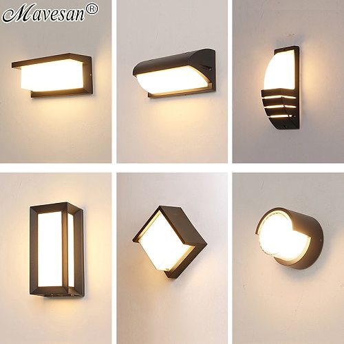 New IP66 LED Wall Waterproof Lamp For Porch Bathroom Alley Bar Indoor&Outdoor Home Surface Mounted Aluminum Sconce For AC90-260V