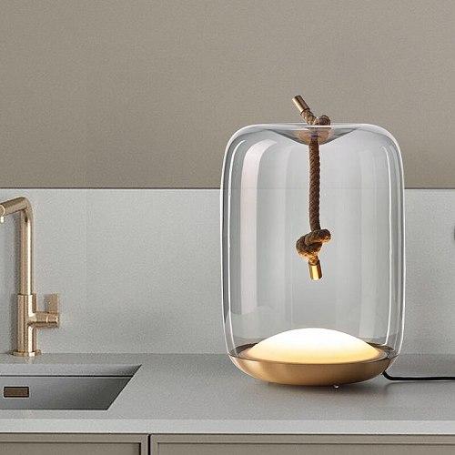 Nordic Brokis Knot Hemp Rope table lamp Creative Ball classic lamp Decorative Designer Table Lamp Bedroom Stand table lamp
