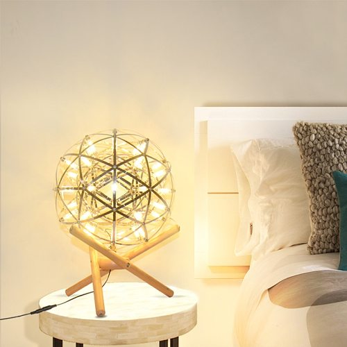 LED table lamp bedroom sleep ins girl bedside room dormitory starry sky decoration lamp firework table lamp